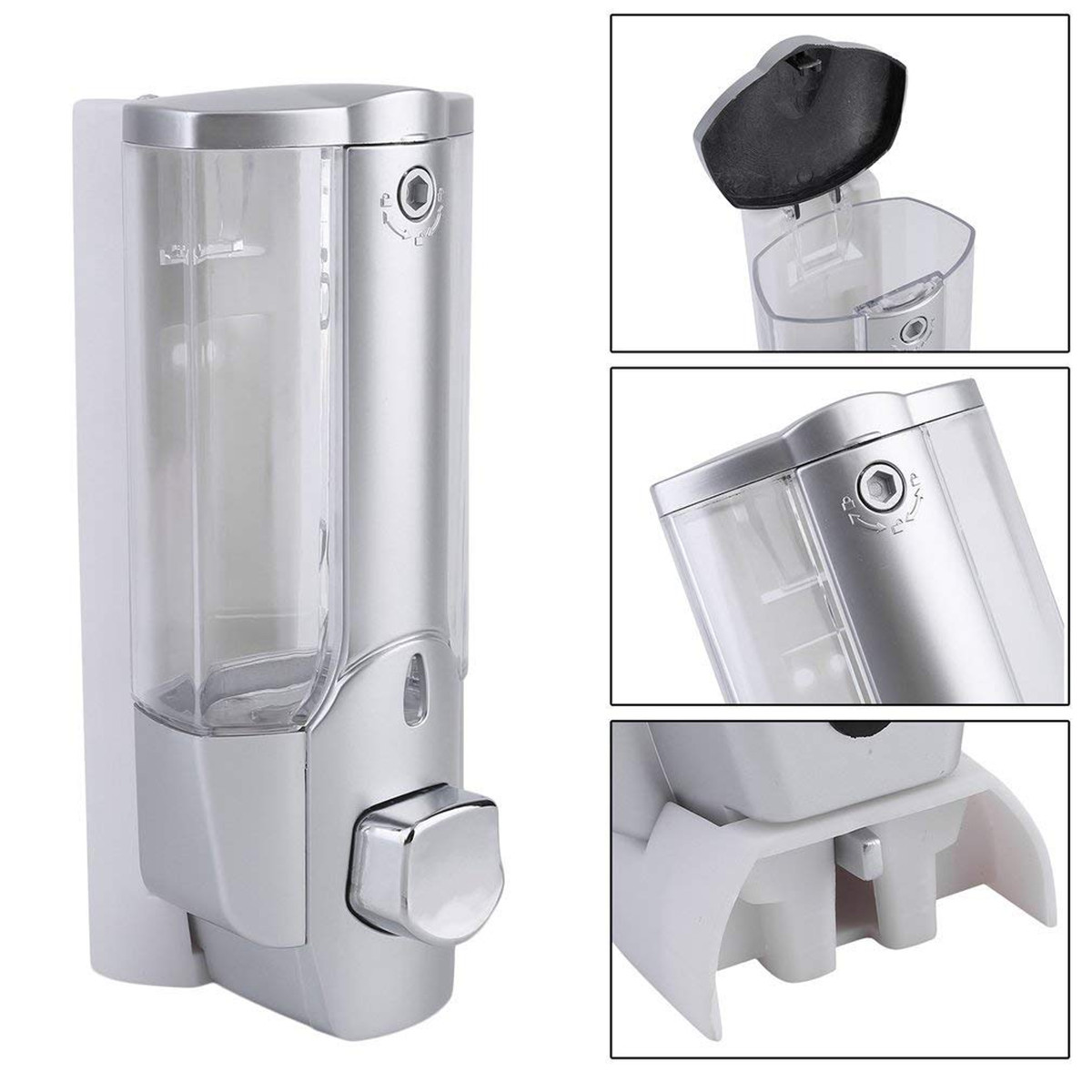H68e203b951694cdf97ec2ce68b50247dB 350ml Hand Soap Dispenser Wall Mount Shower Shampoo Dispensers Containers with Lock for Bathroom Washroom Hand Soap Dispenser