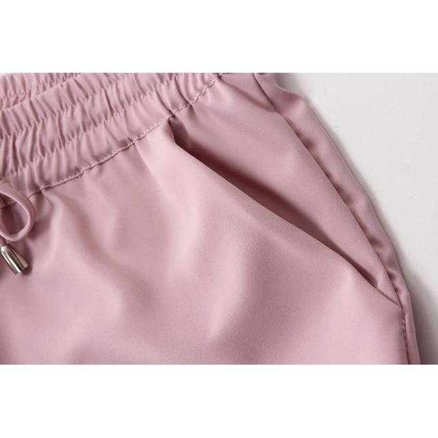 Spring 2021 women's trousers, harem pants, seven-color elastic waist women's trousers, lace-up casual women's pants, new product 5