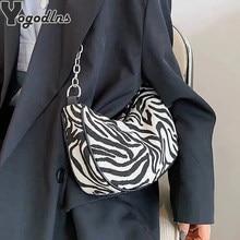Sac à main imprimé zèbre pour femmes, sac de luxe de styliste, Simple sous les bras, sacs à bandoulière quotidien Baguette Hobos