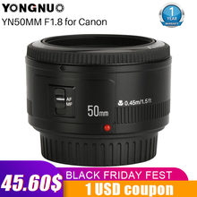 YONGNUO YN50mm YN50 F1.8 EF EOS 50MM AF MF 카메라 렌즈 Canon Rebel T6 EOS 700D 750D 800D Mark II IV 전화 카메라 렌즈 용