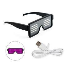 Мода Быстрая зарядка USB лазерные очки для ночного клуба вечерние концертные блестящий; с подсветкой очки для света игрушки