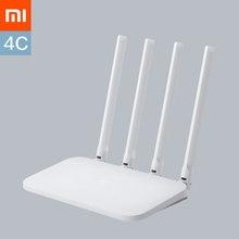 Xiaomi wifi roteador 4c, roteador original, controle app 64 ram 802.11 b/g/n 2.4g 300mbps 4 antenas roteadores repetidor