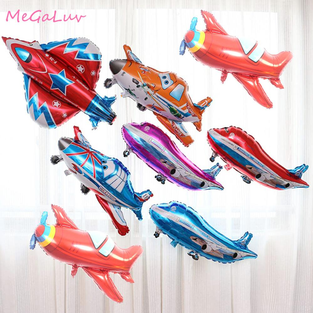 1pc Airplane Foil Balloons Plane Globos Car Aircraft Air Balloons Birthday Party decorations kids Boy Inflatable Toys image