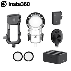 Insta360 ONE X2 Accessory Dive Case / Lens Guards / Mic Adapter /Fast Battery Charge Hub / Bullet Time Cord / Utility Frame