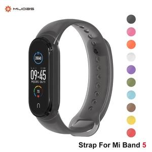 Mi Band 5 Strap for Xiaomi Mi Band 5 Bracelet Silicone Strap for Xiaomi  Correa Sport Wristbands Pulseira Translucent Miband 5|Smart Accessories| -  AliExpress