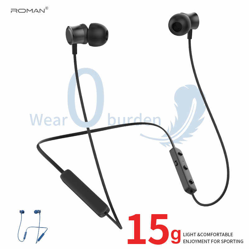 Roman S205 Bluetooth Headphones Ipx5 Waterproof Aac Wireless Headphone Sports Bass Earbuds With Mic For Phone Iphone Xiaomi Htc Aliexpress
