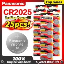 PANASONIC 2020 nouveau 25 pièces d'origine cr2025 CR 2025 BR2025 DL2025 KCR2025 LM2025 3v pile bouton pile au lithium pour montre