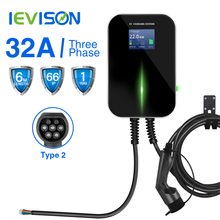 32A 3Phase EV Charger Wallbox Electric Vehicle Charging Station EVSE  with Type 2 Cable IEC 62196-2 for Smart ED,BMW i3..