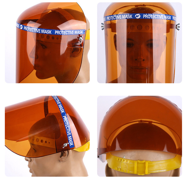 1pcs Pvc Protective Mask Plexiglass Protective Mask Labor Protection Products Face Anti-splash Face Protection 5