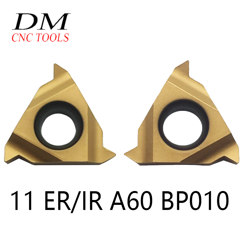 10pcs 11ER A60 BP010 /11IR A60 BP010 Cemented Carbide CNC Tool Blade  For Thread Turning Tool Boring