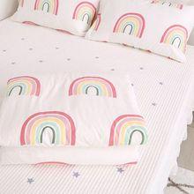 2 шт. в наборе) 120x150 см пододеяльник+ 30x50 см наволочка хлопковый комплект постельного белья для детской кроватки Поющая кровать