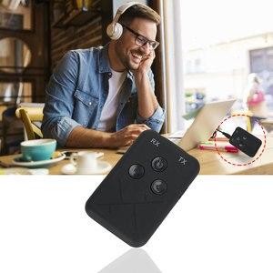 Image 2 - 3.5mm ses kablosuz Bluetooth 4.2 verici alıcı 2 in 1 ses TV için araba hoparlörü müzik adaptörü Stereo