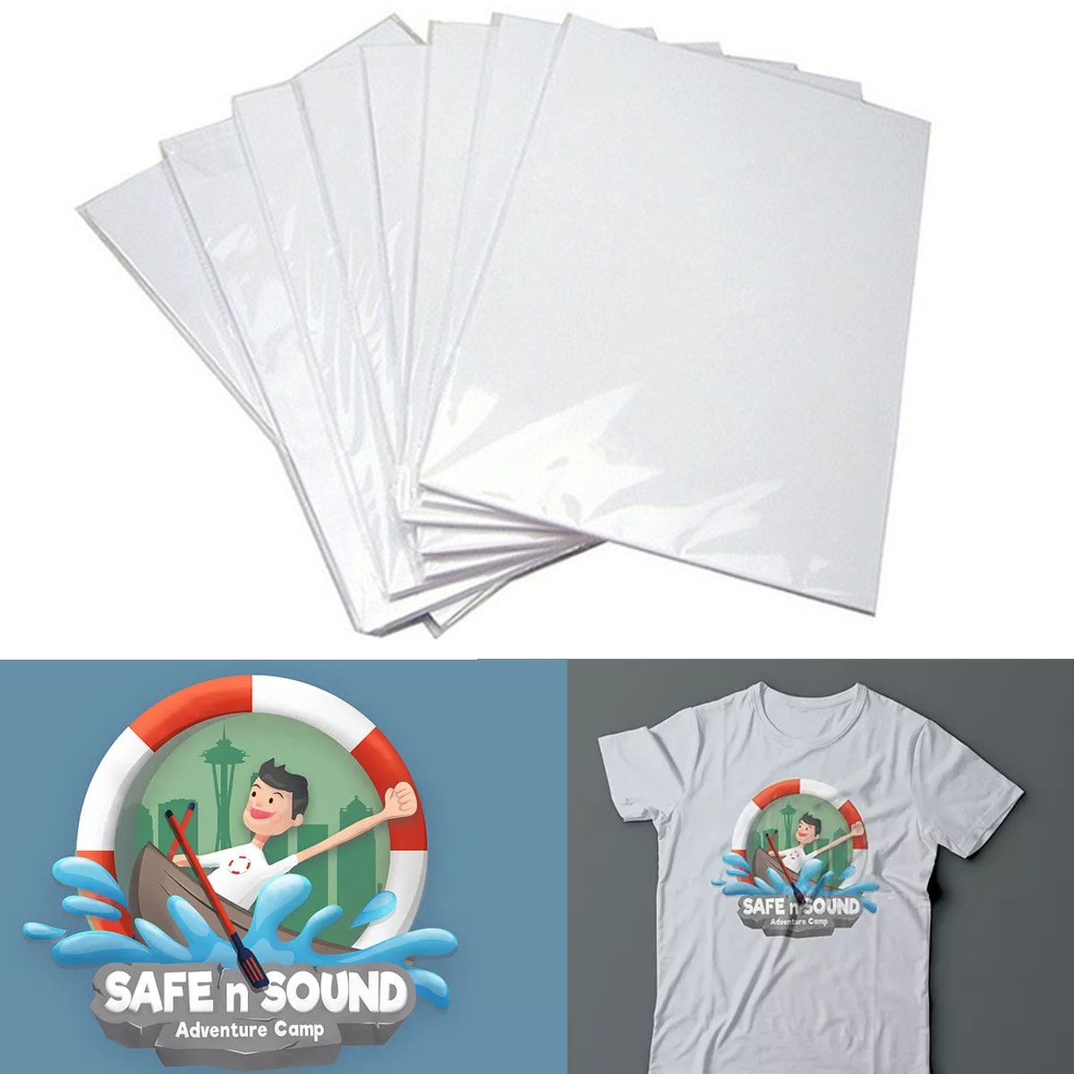 50/100Pcs Laser Heat Transfer Paper A3/A4 Self Weeding Paper For T Shirt Thermal Transfers Hollow Papers DIY Craft T-shirt New