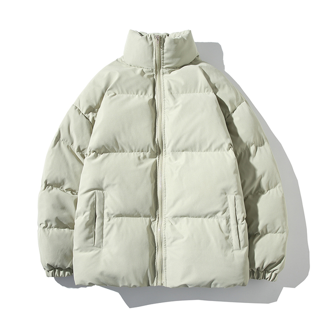 Winter Jacket Men Parkas Thicken Warm Coat Mens Stand Collar Jackets Solid Color Parka Coat Women Fashion New Streetwear 5XL 4