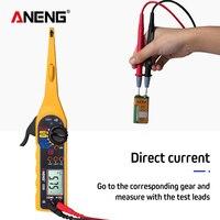 Multímetro elétrico multifunção  ferramenta de teste de circuito automático  lâmpada automotiva  multímetro elétrico 0v-60v (tela)