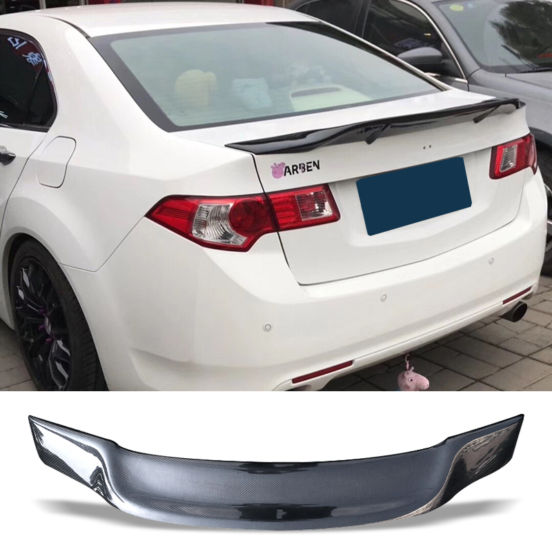 Car Trunk Spoiler Carbon Fiber Auto Rear Trunk Wing R Style Refit Accessories Spoiler For Honda Accord euro 2009-2012