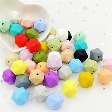 Beads Baby Multi-Faceted-Beads Silicone Diy Necklace Jewerly-Accessories Nursing 14mm