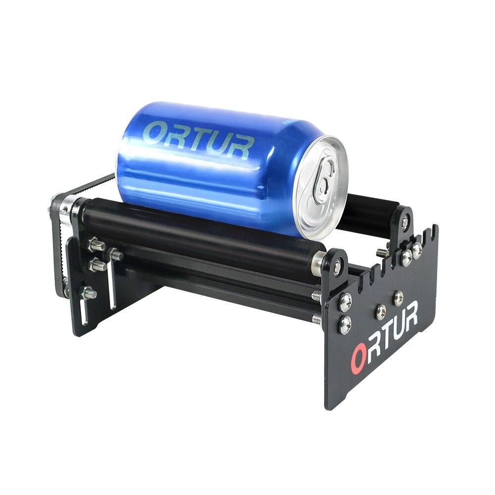 ORTUR Leaser Stecher Y-achse Dreh Roller Gravur Modul für Gravur Zylindrischen Objekte Dosen-Schwarz