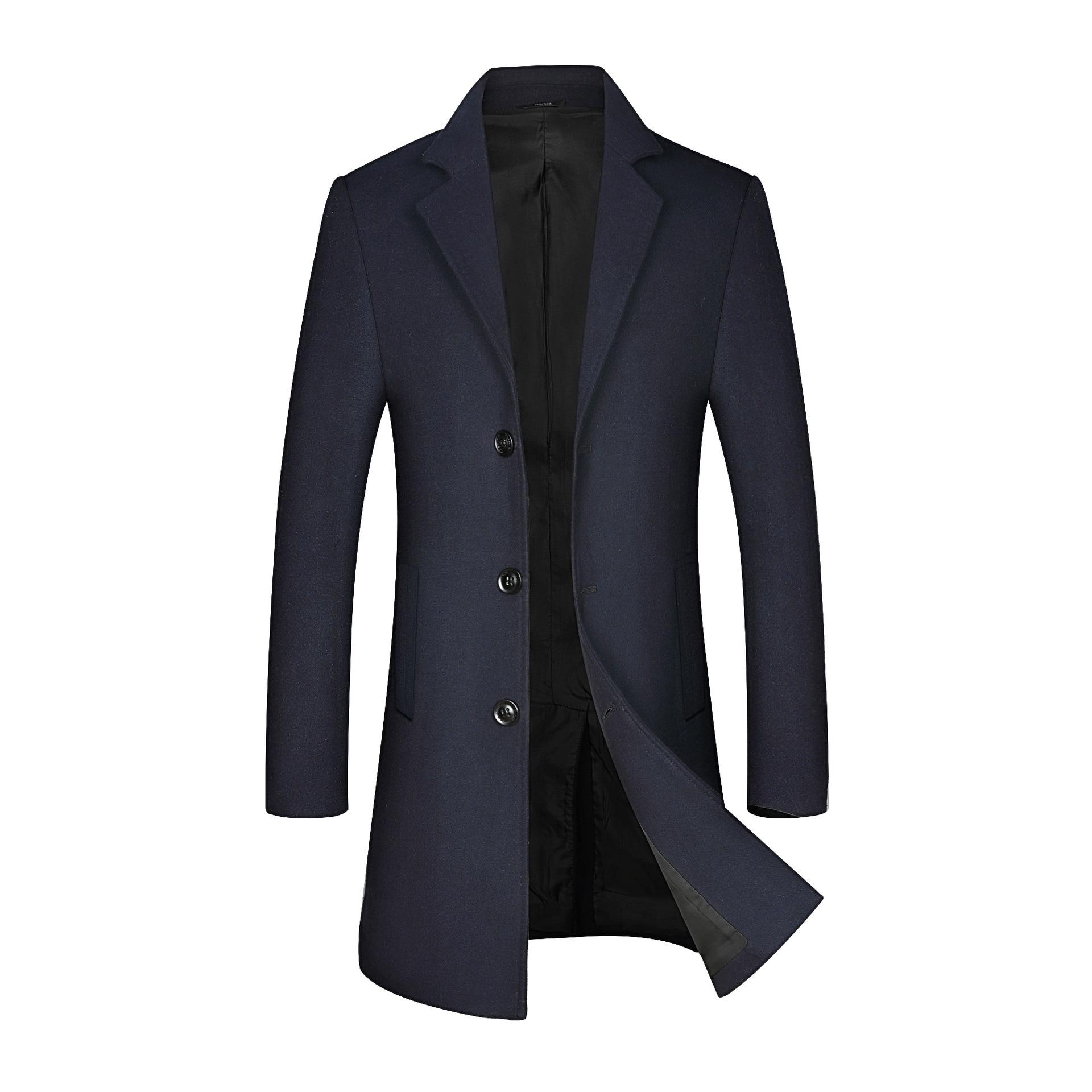 Woolen MEN'S Coat, Mens Coat,Autumn and Winter New Style Wool Overcoat Men's,Mid-length Business Casual MEN'S WEAR,coats for Men