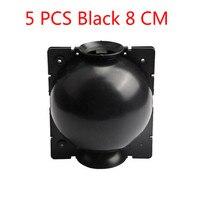 5 PCS Black 8cm