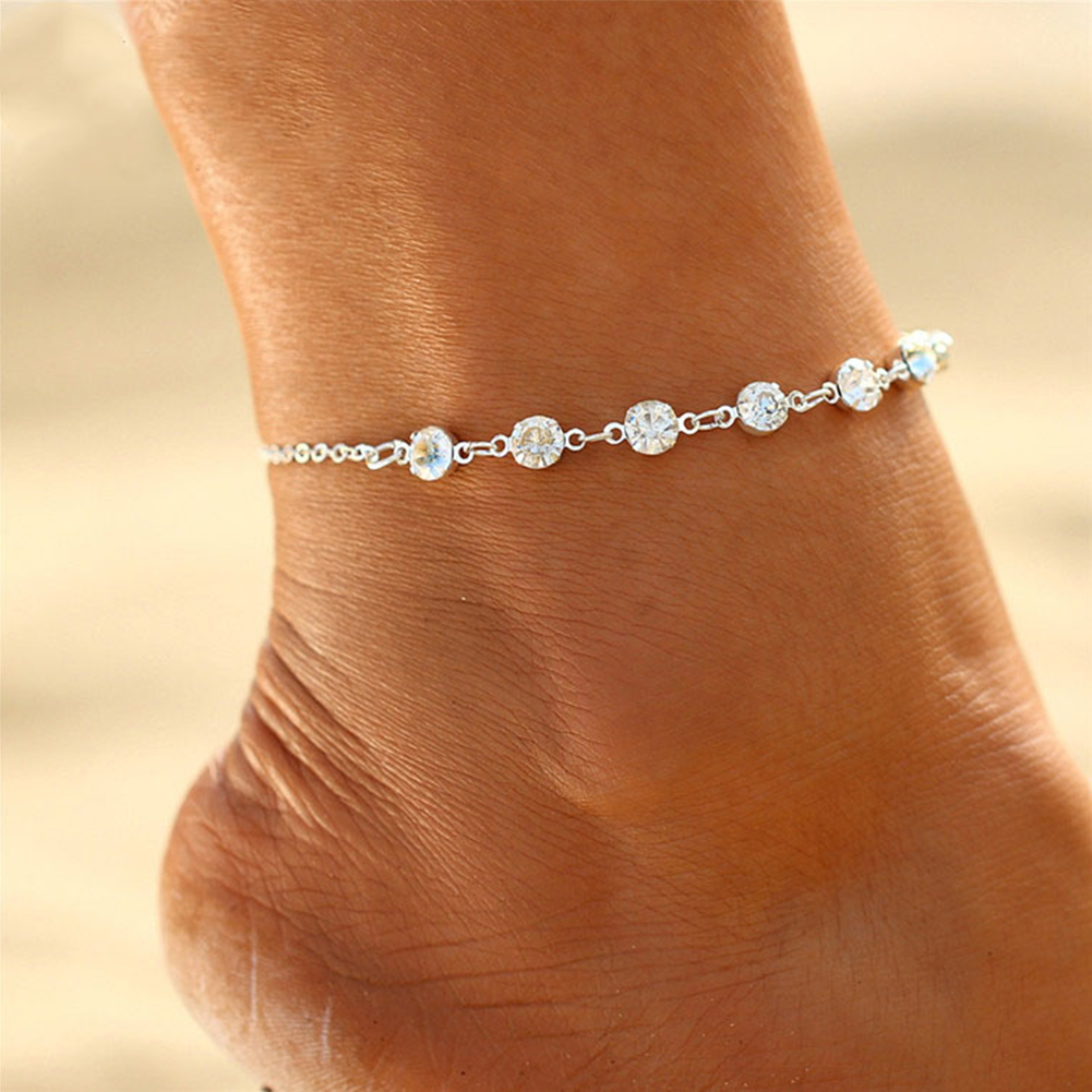Women Foot Bracelet Bride Anklet Flash Bracelet Jewelry Female Girl Ankle bracelet Leg Chain Jewelry Charm Anklets Strap