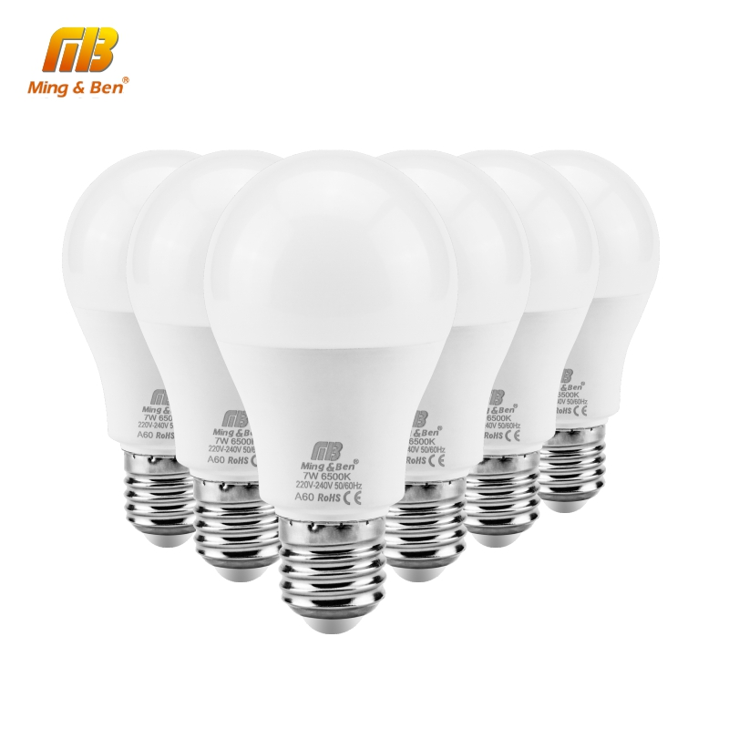 6pcs/lot AC220V LED Bulb 18W 15W 12W 9W Day White Cold Warm White Bombilla High Brightness Stable Power Lampada Indoor Lighting