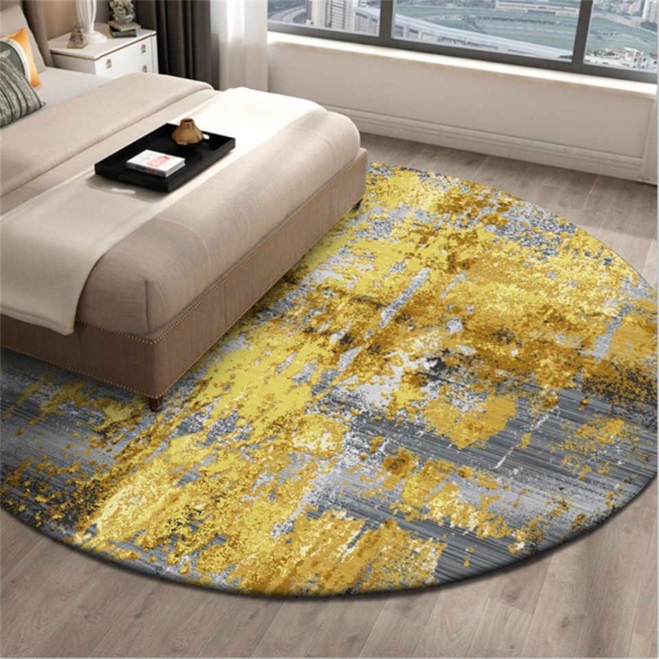 Luxury Round Bedside Carpet Rugs