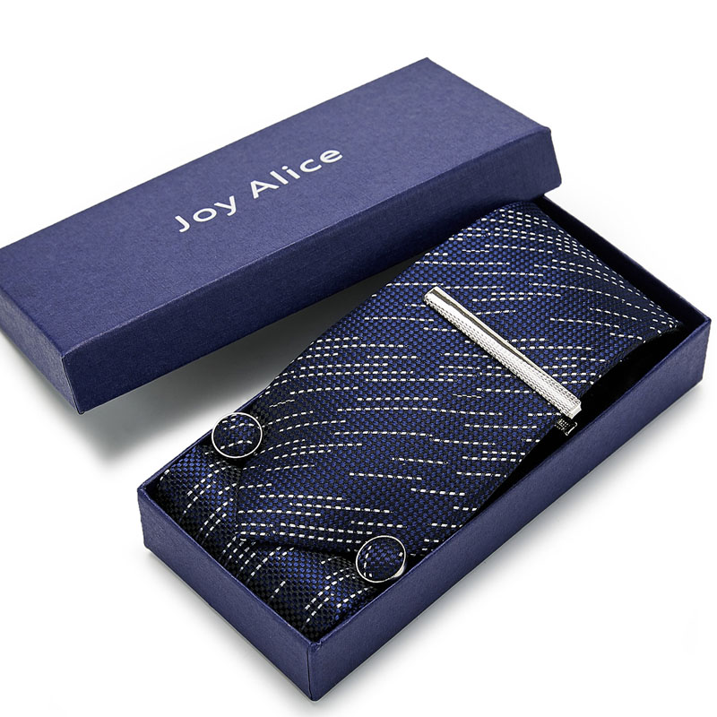 100%Silk 8cm Men Tie Set Fashion Classic Paisley Jacquard Tie &handkerchief&cufflinks&clip Gift Box Set Wedding Business Necktie