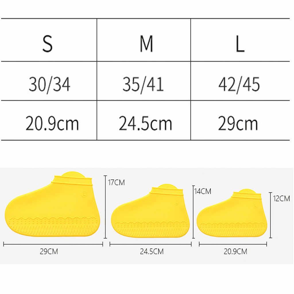ซิลิโคนฝนกันน้ำโปร่งใส Non-slip รองเท้าชุดบ้านหนาสวมใส่ Rainy Day ลื่นรองเท้า #10