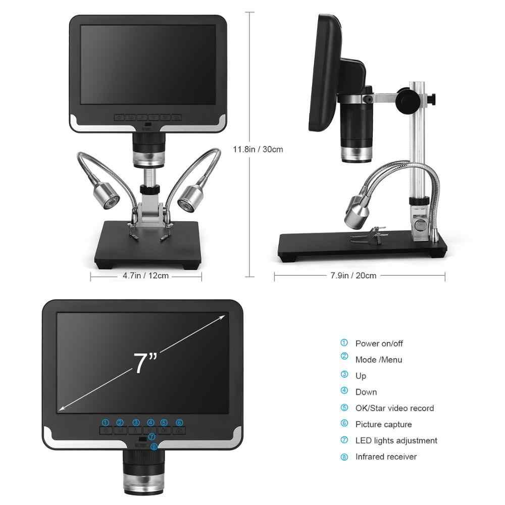 2.0MP 200X Digital Mikroskop Industri Pemeriksaan Mikroskop Elektron Mobile Phone Memperbaiki PCB Solder SMT Mikroskop