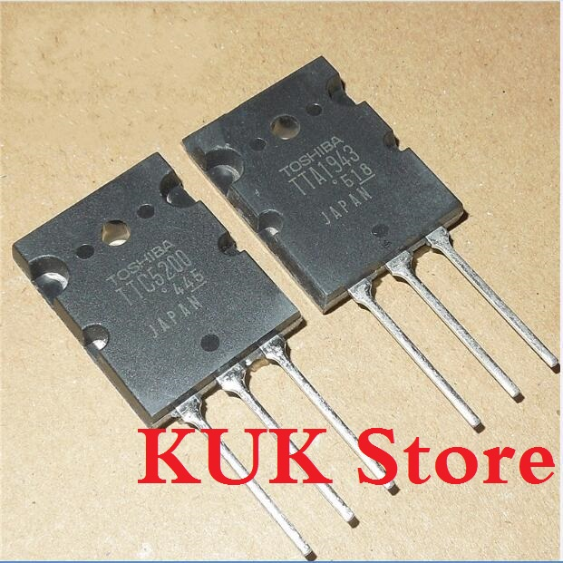 Real Original 100% NEW TTA1943 TTC5200 A1943 C5200 TO-3PL  5Pair = TTA1943 5PCS + TTC5200 5PCS