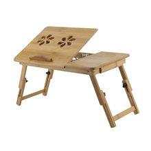 Складная портативная бамбуковая компьютерная подставка, столик для ноутбука с/без вентилятора, подставка для чая, обеденный стол, столик дл...