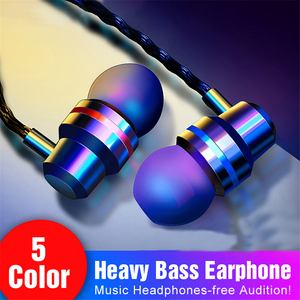 Heavy Bass Hifi Stereo Earphone Earbuds Wired Earphones Music Sport Gaming Headset with mic For iPhone 12 Xiaomi Samsung Huawei