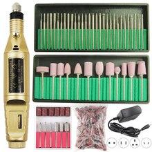 1 набор, профессиональная электрическая машинка для сверления ногтей, ручка для маникюра, педикюра, насадки для полировки, шлифовки ногтей, сверла для ногтей, набор гелей для ногтей