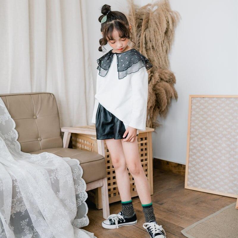 Girls Shirts Blouse Tops Kids Clothes Autumn Cute Spring Thin Cotton CL048 Polka-Dot