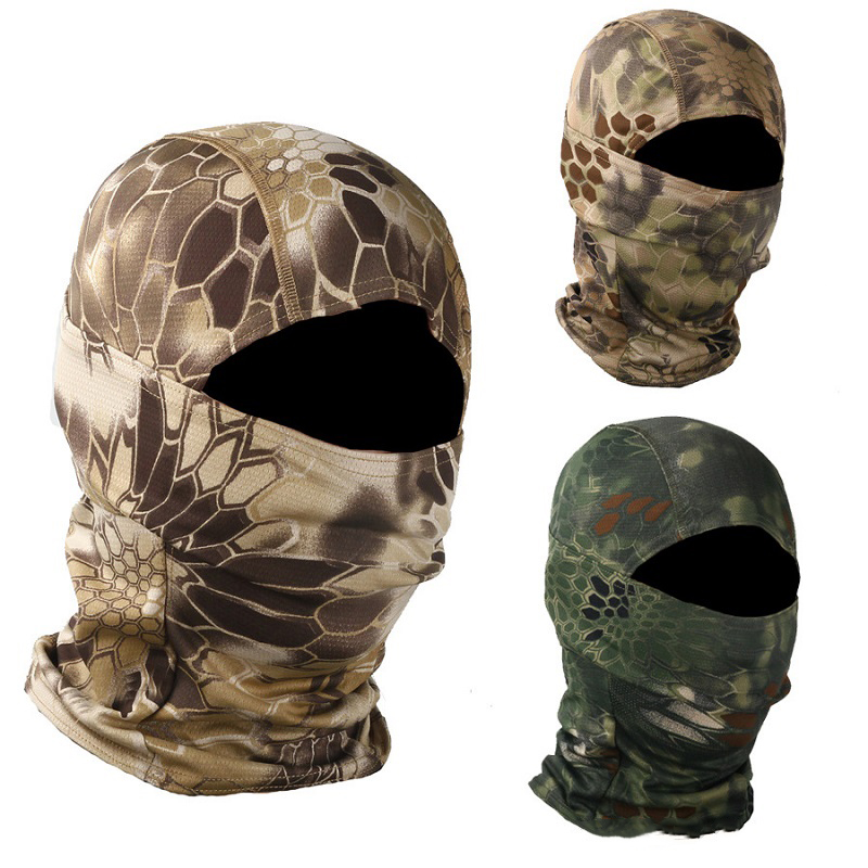 Camouflage Cycling Full Face Mask Tactical Mask Breathable Bike Ski Mask Hunting Army Military Airsoft Outdoor Hood Cap