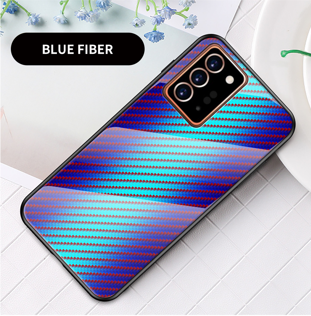 XUANYAO Case Cover For Samsung Galaxy Note 20 Plus Case Glass Hard Cover For Samsung Galaxy Note 20 Ultra Case Slim Carbon Fiber (16)