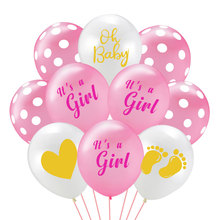 12inch Oh Baby Latex Balloons Baby Footprint Balloon Its A Girl Birthday Party Decoration Baby Shower Birthday Party Balloons oh baby balloons for party decoration heart foil balloons decoration pd 143