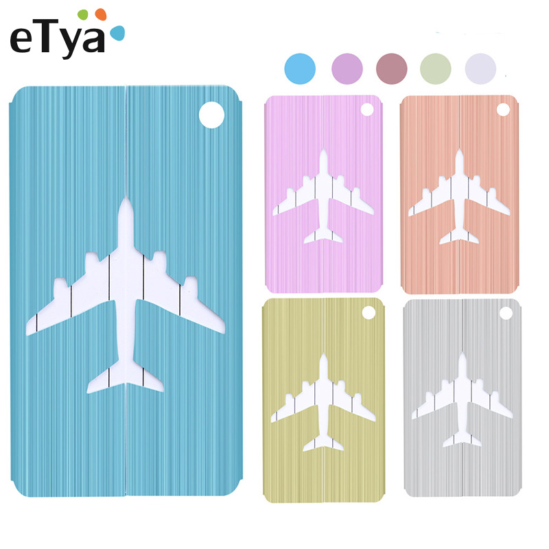 ETya Aluminium Alloy Luggage Tags Baggage Name Tags Suitcase Address Label Holder Travel Accessories Dropshipping