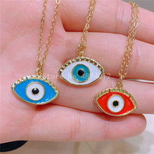 10pcs,Women Pendant Necklace,Fashion Jewelry, Pop Charms, Eyes Shape , 3Colrs, Can Wholesale,