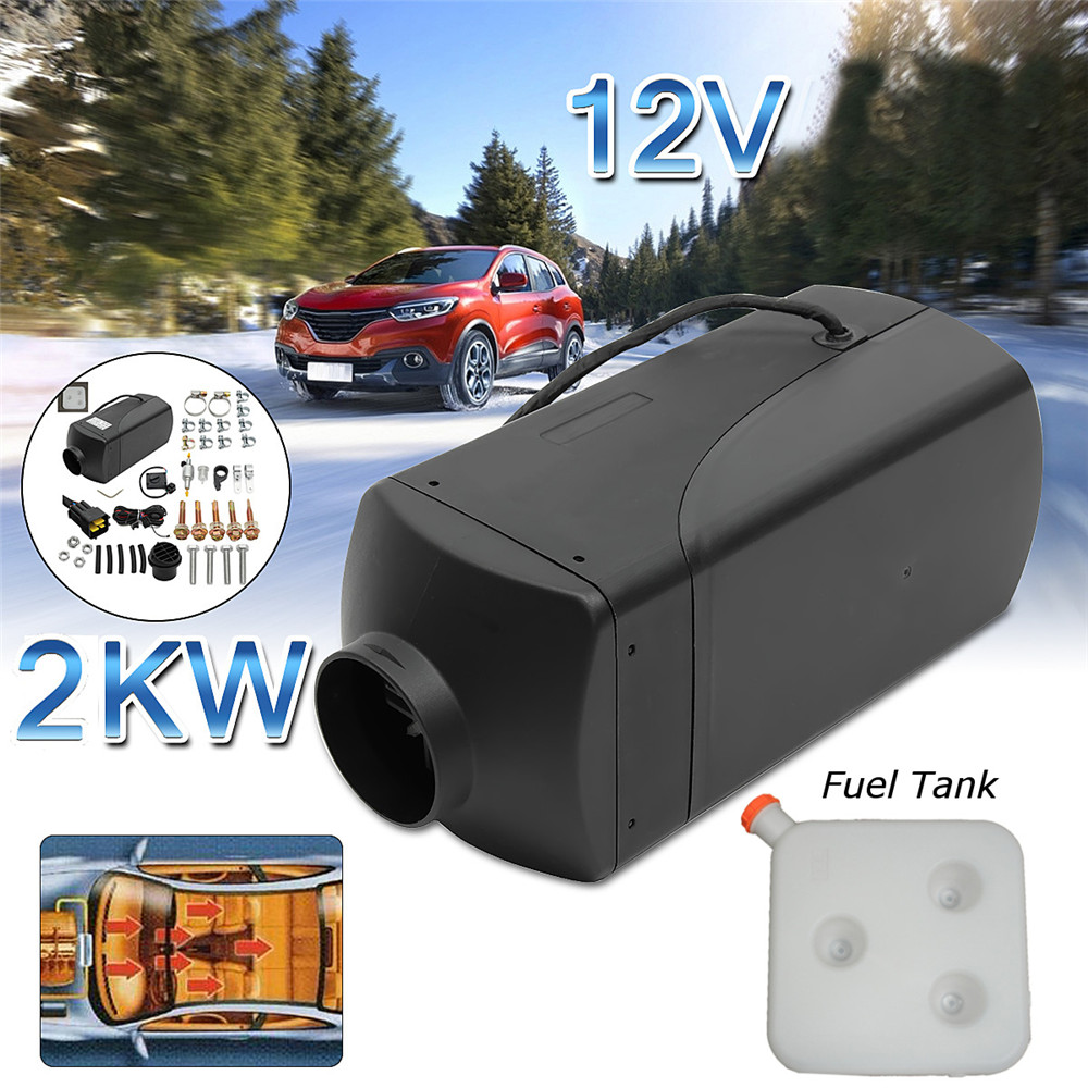 12V 2KW Diesel Air Heater 10L Tank w//LCD Switch Panel Universal for Boat Truck Pickup Bus