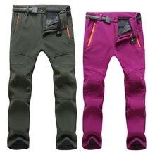 Мужские Женские зимние рыболовные водонепроницаемые походные флисовые брюки для улицы для альпинизма, катания на лыжах, софтшельные штаны для туризма