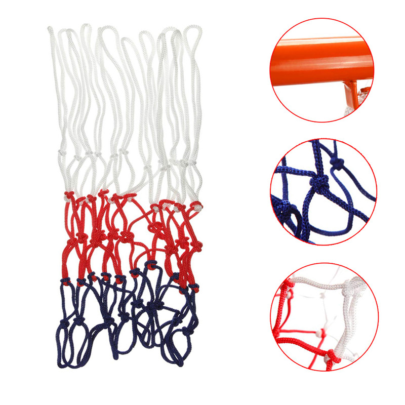 Outdoors Indoors Heavy Duty Basketball Net Replacement Wear-resistant Nylon Basketball Nets Durable Rugged Fits Standard Rims