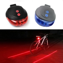 5 LED Bicycle Light 2 Lasers Bike Rear Light Cycling Tail Lights Mountain Bicycle Lights Lamp For Bike Accessories cheap Cooloh Tail-5led-light Seatpost Battery