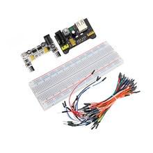 1 pçs novo MB-102 mb102 tábua de pão 830 ponto solderless pcb placa de teste desenvolver diy