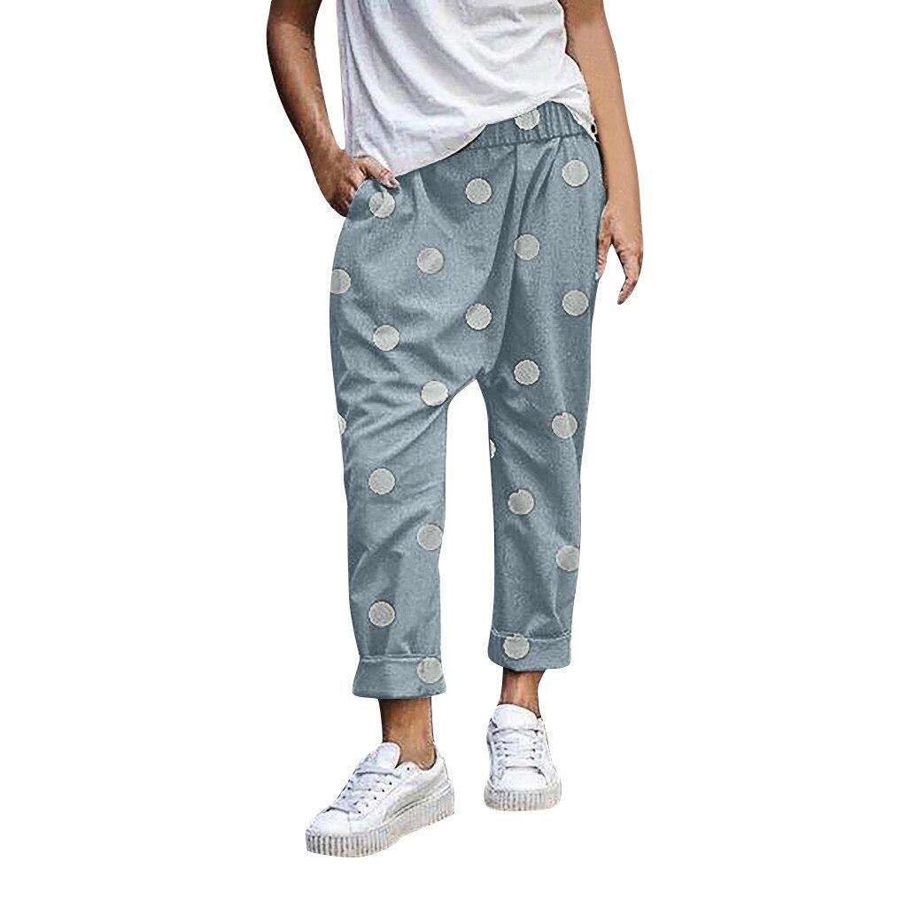 JAYCOSIN Woman Pant Full Length High Waist Pants Plus Size Loose Casual Women Trousers Wide Leg Loose Pants Women Plus Size