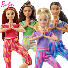 Original Barbie Yoga Doll Joints Made To Move Body Barbie Sports Dolls Toys for Girls Juguetes Interactive Kids Toys Brinquedos