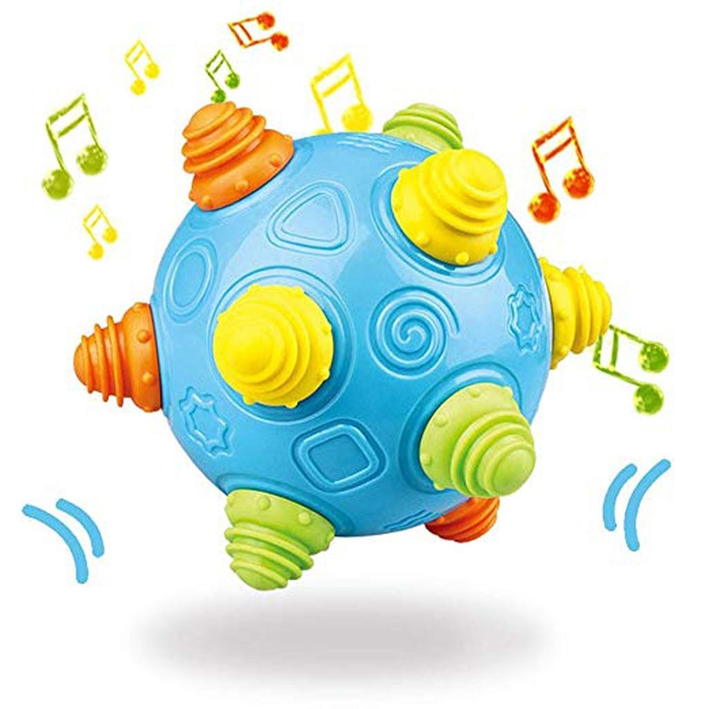 Bébé musique secouer danse balle jouet gratuit rebondissant sensoriel développement balle jouets pour enfants zabawka juguete bateria infantil