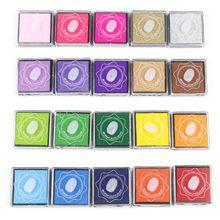 20 Colors Ink Pad DIY Scrapbooking Album Finger Painting Inkpad Stamps Sealing 24BB