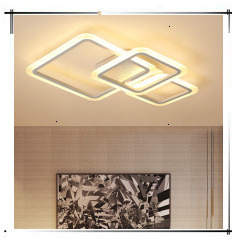 H68e63aae897f4e608fe04d4b41ac1423j Modern Minimalism High brightness LED ceiling lights rectangular bedroom Livingroom aisl Ceiling lamp lighting lamparas de techo